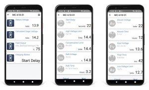 Balmar MC-618 Smartphone Display Screenshots