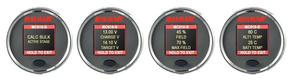 Balmar MC-618 SG200 Display Options